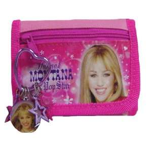 New Hannah Montana Girls Pink Wallet and Keychain Toys