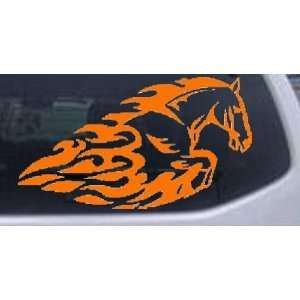 Orange 30in X 17.1in    Flaming Mustang Horse Animals Car Window Wall