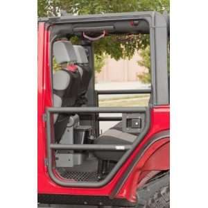Rugged Ridge 11509.11 Black Textured Rear Tube Door for Jeep Wrangler