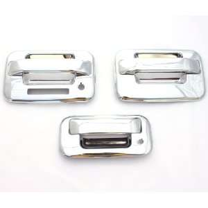 04 11 Ford F 150 (2 Doors) Chrome Door Handle & Tailgate Covers with