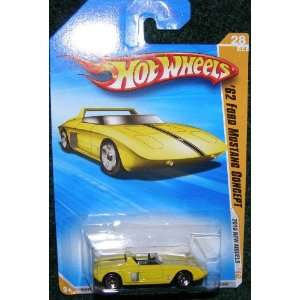 2010 HOT WHEELS NEW MODELS YELLOW 62 FORD MUSTANG CONCEPT