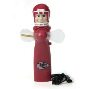 Kansas City Chiefs Nfl Light Up Spinning Hand Held Fan (7
