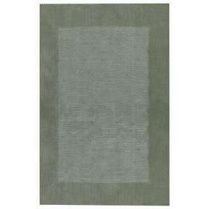 Alleghany Jade Green Contemporary Wool Area Rug 5.00 x 8