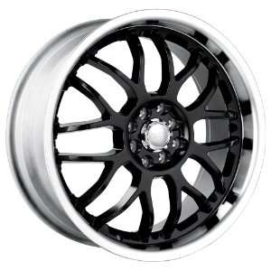 18x7.5 Akita AK 6 (460) (Black w/ Machined Lip) Wheels/Rims 5x112/115