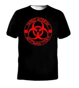 ZOMBIE OUTBREAK RESPONSE TEAM COOL LOGO FUNNY T SHIRT