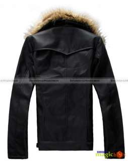 Double Breasted Faux Fur Collar Coat Jacket Outwear New #049
