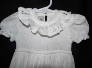 Baby Rog Christening Gown Sweater Eyelet 3 6 Month Girl