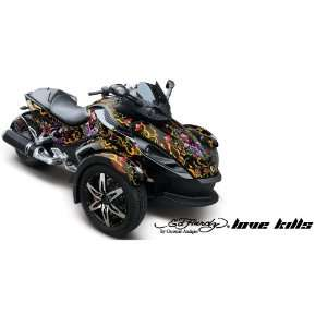 Ed Hardy AMR Racing Fits Can Am BRP Spyder Graphic Decal