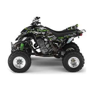 Silver Star AMR Racing Yamaha Raptor 660 ATV Quad Graphic Kit   Silver