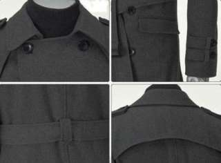 Men Stylish Jacket Cotton Blazer Trench Coat Black 2011