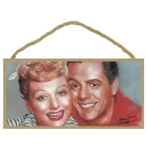 Wooden Wall Sign Plaque   Lucille Ball & Desi Arnaz