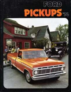 1974 74 Ford Pickup truck original sales brochure
