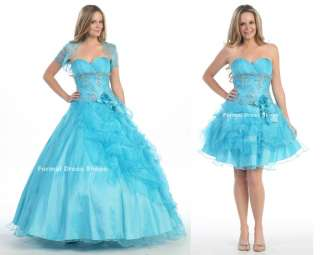 QUINCEANERA DEBUTANTE BALL GOWNS COCKTAIL SHORT PAGEANT WEDDING DRESS