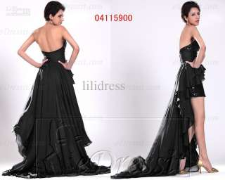 2011 New Arrive Strapless Prom Dress Formal Gown Evening Dresses V