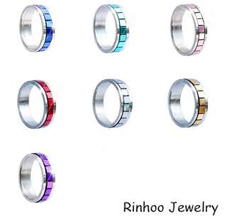 Mix colors 36pcs #6 11 Stainless steel rings Free~~