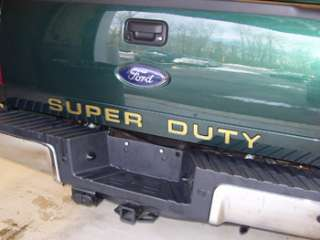 2011 Ford F350 Super Duty Tailgate Letter Insert Decals