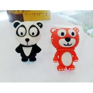 4GB Cute Tiger Style USB Flash Drive with Key Chain Electronics
