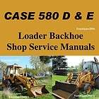580E 580 D & E Loader Backhoe Tractor Shop Service Manual 3083 Page CD