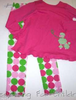 Girls KELLYS KIDS boutique outfit 10 12 NWT swing top dot pants pink