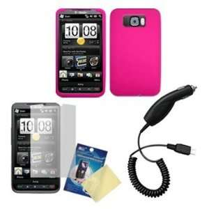 Hot Pink silicone Case / Skin / Cover, LCD Screen Guard
