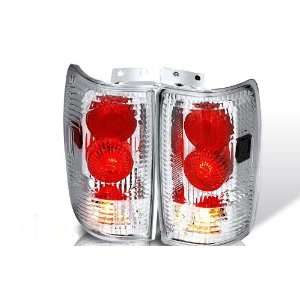 97 02 Ford Expedition Altezza Tail Light   Chrome / Clear
