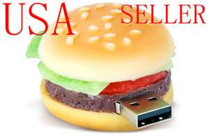 3D 8 GB Food Hamburger SHAPE USB Flash Pen Drive Memory stick