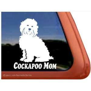 Cockapoo Mom Dog Vinyl Window Auto Decal Sticker