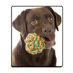 Labrador Retriever Dog with Toy Computer Mouse Pad