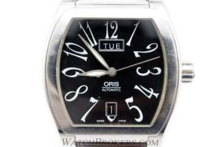 Genuine Oris Miles Tonneau Date Day Mens Automatic Stainless Steel