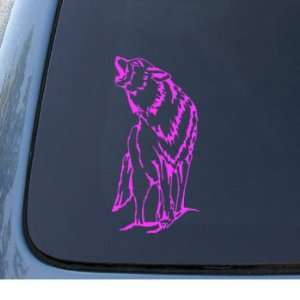 WOLF   Howling Dog Coyote   Car, Truck, Notebook, Vinyl Decal Sticker