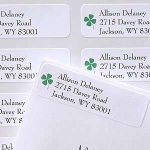 Four Leaf Clover Personalized Return Address Labels