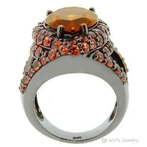 LenYa Specials   Womens Gorgeous Silver Ring with AAA Grade Brown