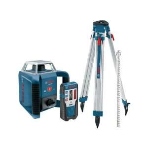 Bosch GRL400HCK Exterior Self Leveling Rotary Laser Complete Kit with