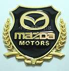 New Gold color Mazda Logo Chrome Metal Car Badge Emblem Decal Sticker
