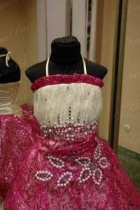NEW PAGEANT FLOWER GIRL HOLIDAY PRINCESS DRESS 3992 HOTPINK SIZE 6 8