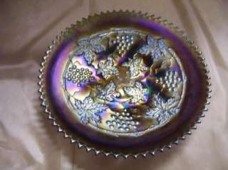 Northwood Grape and Cable Amethyst Carnival Glass Plate