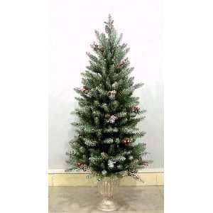 Company DUF 322 40 4 Foot Dunhill Fir Entrance Tree with Snow, Red