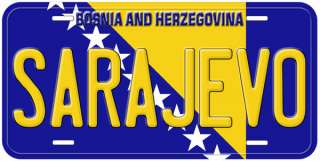 Bosnia and Herzegovina Flag Personalized License Plate