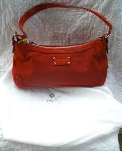 Gorgeous Kate Spade red suede Brennen Hobo purse with dust bag