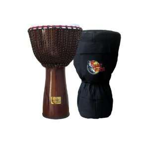 Lava Flow Fiberglass Djembe w/ Bag by Freedom Drums 26 x