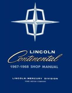 1967 1968 LINCOLN CONTINENTAL Shop Service Manual Book