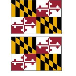 2 Maryland State Flag Stickers Decal Bumper Window Laptop