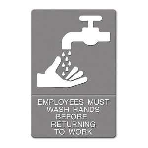 Headline Signs  ADA Sign, Employees Must Wash Hands