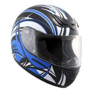 Advance HAWK blue and white Tiger lines with Black Graphics Matte Full