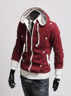 9New Stylish Mens Slim Fit Coat Jackets Hoodies Size XS,S,M ,L 3