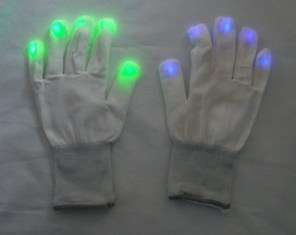10 Pair Multi Color Flashing Blinking LED Light Up Gloves Mitts