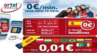SPANISH PAYG ORTEL MOBILE IPHONE 4 IPAD 3g DATA MICRO SIM CARD 3G FOR