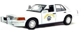Motormax 1/18 CHP White Slicktop Police Ford Crown Vic
