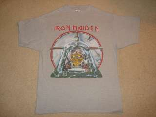Vintage & Rare Iron Maiden Aces High T Shirt 1984 Large   Heavy Metal