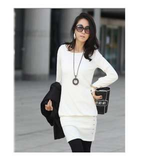 Korea Sexy Stylish NWT Women Long Sleeve Office Ladies Tunic Mini